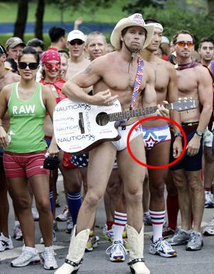 Naked Cowboy Ginch Gonch underwear run NYC